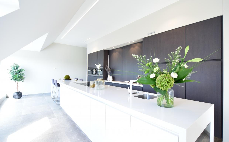 design keukens, groot keukeneiland, rumbeke, appartement te rumbeke