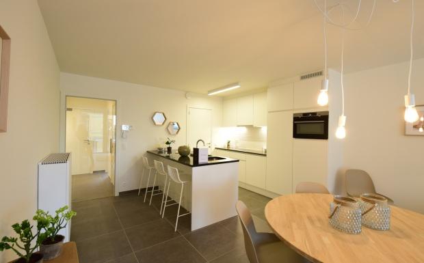 design inrichting, design keuken, schollier torhout, casanova vastgoedstyling, nieuwbouwproject louise middelkerke, oostendebaan